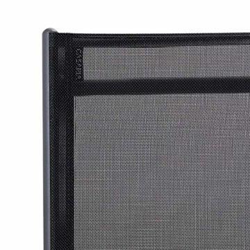 Casaria Aluminium Sitzgruppe 4 Klappstühle Hochlehner WPC Gartentisch 80x80 cm Sitzgarnitur Alu Gartenmöbel Set Grau - 7