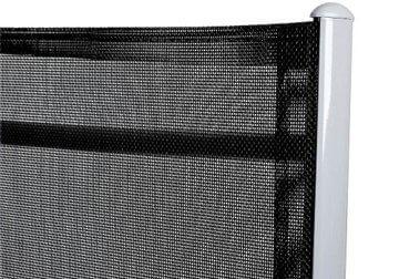 Casaria Sitzgruppe Bern 8+1 Aluminium 7-Fach verstellbare Hochlehner Stühle Milchglas Tisch Silber Gartenmöbel Set - 6