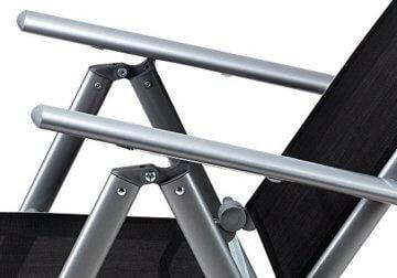 Casaria Sitzgruppe Bern 8+1 Aluminium 7-Fach verstellbare Hochlehner Stühle Milchglas Tisch Silber Gartenmöbel Set - 7