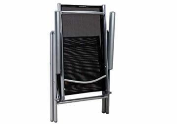 Casaria Sitzgruppe Bern 8+1 Aluminium 7-Fach verstellbare Hochlehner Stühle Milchglas Tisch Silber Gartenmöbel Set - 8