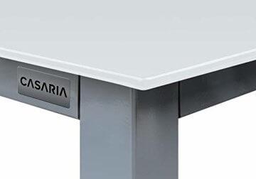 Casaria Sitzgruppe Bern 8+1 Aluminium 7-Fach verstellbare Hochlehner Stühle Milchglas Tisch Silber Gartenmöbel Set - 9