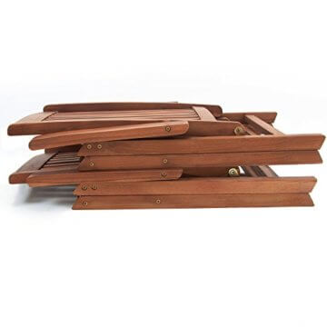 Deuba 2er Set Gartenstuhl Vanamo Eukalyptus Holz klappbar Klappstuhl Hochlehner Klappstühle Klappsessel Gartenmöbel - 4