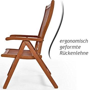 Deuba 2er Set Gartenstuhl Vanamo Eukalyptus Holz klappbar Klappstuhl Hochlehner Klappstühle Klappsessel Gartenmöbel - 6