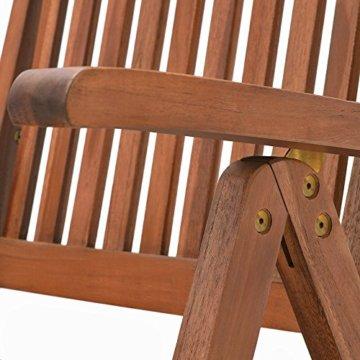 Deuba 2er Set Gartenstuhl Vanamo Eukalyptus Holz klappbar Klappstuhl Hochlehner Klappstühle Klappsessel Gartenmöbel - 7