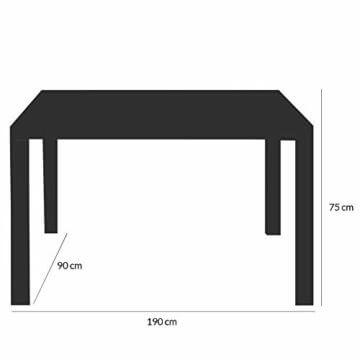 Deuba Poly Rattan Sitzgruppe Gartenmöbel WPC Gartentisch 8 Stapelbare Stühle Auflagen Sitzgarnitur Essgruppe Garten Set - 3