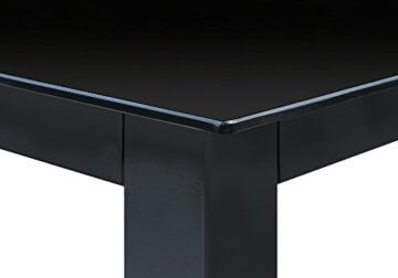 Deuba Sitzgruppe Bern 6+1 Aluminium 7-Fach verstellbare Hochlehner Stühle Tisch mit Sicherheitsglas Anthrazit Garten Set - 6