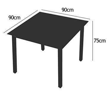Deuba Sitzgruppe Bern 6+1 Aluminium 7-Fach verstellbare Hochlehner Stühle Tisch mit Sicherheitsglas Anthrazit Garten Set - 9