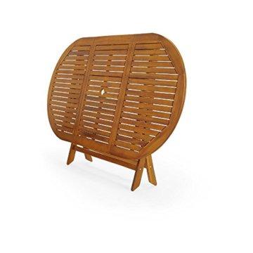 Deuba Sitzgruppe Boston 6+1 FSC®-zertifiziertes Akazienholz 7-TLG Tisch klappbar Sitzgarnitur Holz Gartenmöbel Garten Set - 5