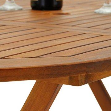 Deuba Sitzgruppe Boston 6+1 FSC®-zertifiziertes Akazienholz 7-TLG Tisch klappbar Sitzgarnitur Holz Gartenmöbel Garten Set - 6