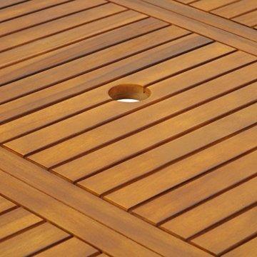 Deuba Sitzgruppe Boston 6+1 FSC®-zertifiziertes Akazienholz 7-TLG Tisch klappbar Sitzgarnitur Holz Gartenmöbel Garten Set - 9