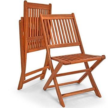 Deuba Sitzgruppe Sydney Light 4+1 FSC®-zertifiziertes Akazienholz 5-TLG Tisch klappbar Sitzgarnitur Holz Garten Set - 2