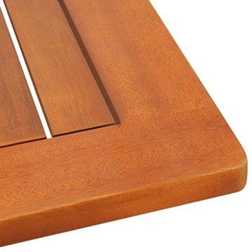 Deuba Sitzgruppe Sydney Light 4+1 FSC®-zertifiziertes Akazienholz 5-TLG Tisch klappbar Sitzgarnitur Holz Garten Set - 9