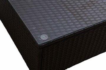GOJOOASIS Polyrattan Lounge Sitzgruppe Gartenmöbel Garnitur Poly Rattan Couch-Set in Braun-schwarz mit Bezügen in Creme (200 cm Länge) - 2