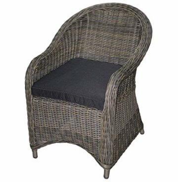 KMH®, 5-teilige Gartensitzgruppe - 1 runder Tisch und 4 Gartensessel inkl. Sitzkissen (#106101) - 3
