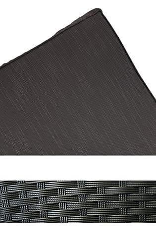 KMH®, große Schwarze Polyrattan Gartensitzgruppe Lounge Esstisch Sofa Hannover inklusive Auflagen und Kissen (#106116) - 3