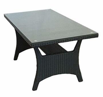 KMH®, große Schwarze Polyrattan Gartensitzgruppe Lounge Esstisch Sofa Hannover inklusive Auflagen und Kissen (#106116) - 5