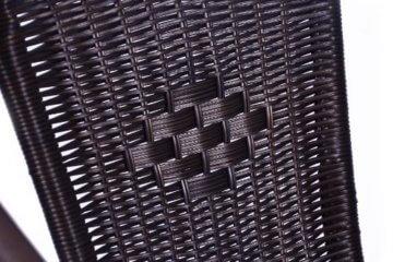 Nexos 5-teiliges Gartenmöbel-Set – Gartengarnitur Sitzgruppe Sitzgarnitur aus Bistrostühlen & Esstisch – Stahl Kunststoff Glas – braun Dunkelbraun - 2
