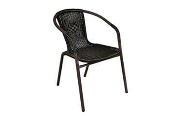 Nexos 5-teiliges Gartenmöbel-Set – Gartengarnitur Sitzgruppe Sitzgarnitur aus Bistrostühlen & Esstisch – Stahl Kunststoff Glas – braun Dunkelbraun - 5
