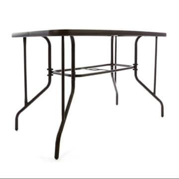 Nexos 5-teiliges Gartenmöbel-Set – Gartengarnitur Sitzgruppe Sitzgarnitur aus Bistrostühlen & Esstisch – Stahl Kunststoff Glas – braun Dunkelbraun - 6