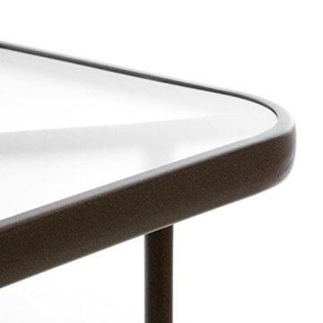 Nexos 5-teiliges Gartenmöbel-Set – Gartengarnitur Sitzgruppe Sitzgarnitur aus Bistrostühlen & Esstisch – Stahl Kunststoff Glas – braun Dunkelbraun - 7