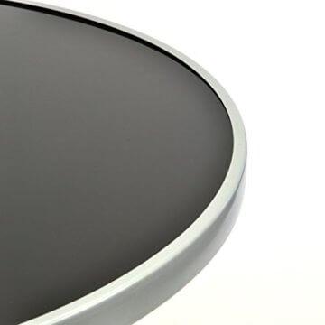 Nexos Bistroset Balkonset – Gartengarnitur Sitzgarnitur aus Glastisch & Stapelstuhl – Stahlgestell Kunststoff Glasplatte – robust stapelbar – schwarz grau - 3