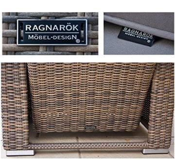 RAGNARÖK hohe Dinning Lounge - DEUTSCHE Marke - 8 Jahre GARANTIE EIGENE Produktion - PolyRattan Gartenmöbel Essgruppe Hocker Sessel verstellbare Lehn Naturfarben Rundrattan - 2