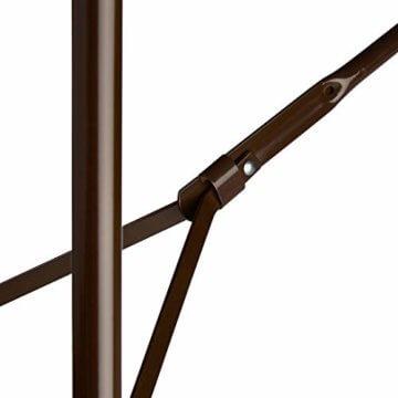 Relaxdays Bierzeltgarnitur klappbar Bastian, 3-teiliges Gartenmöbel Set, einfarbig, H x B x T: 73 x 180 x 75 cm, braun - 4