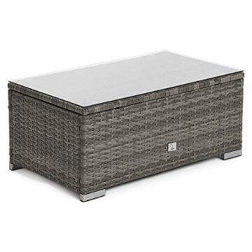 SVITA Queens 2020 Poly Rattan Sitzgruppe Couch-Set Ecksofa Sofa-Garnitur Gartenmöbel Lounge Schwarz, Grau oder Braun (Grau) - 5