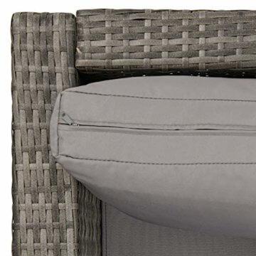 SVITA Queens 2020 Poly Rattan Sitzgruppe Couch-Set Ecksofa Sofa-Garnitur Gartenmöbel Lounge Schwarz, Grau oder Braun (Grau) - 7