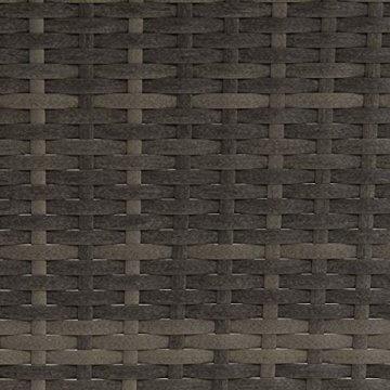 SVITA Queens 2020 Poly Rattan Sitzgruppe Couch-Set Ecksofa Sofa-Garnitur Gartenmöbel Lounge Schwarz, Grau oder Braun (Grau) - 9