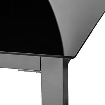 TecTake 800355 Aluminium Polyrattan 6+1 Sitzgarnitur Set, 6 Klappstühle & 1 Tisch mit Glasplatten - Diverse Farben (Dunkelgrau | Nr. 402166) - 3