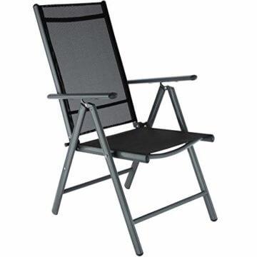 TecTake Aluminium Sitzgarnitur 8+1 Sitzgruppe Gartenmöbel Tisch & Stuhl-Set - Diverse Farben - (Dunkelgrau | Nr. 402164) - 2