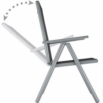 TecTake Aluminium Sitzgarnitur 8+1 Sitzgruppe Gartenmöbel Tisch & Stuhl-Set - Diverse Farben - (Silber Grau   Nr. 402165) - 5