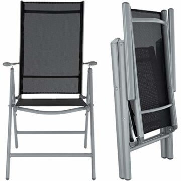 TecTake Aluminium Sitzgarnitur 8+1 Sitzgruppe Gartenmöbel Tisch & Stuhl-Set - Diverse Farben - (Silber Grau   Nr. 402165) - 6