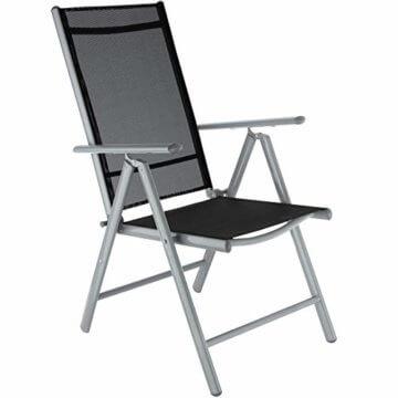 TecTake Aluminium Sitzgarnitur 8+1 Sitzgruppe Gartenmöbel Tisch & Stuhl-Set - Diverse Farben - (Silber Grau   Nr. 402165) - 7