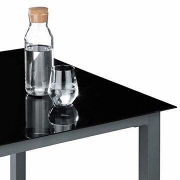 TecTake Aluminium Sitzgarnitur 8+1 Sitzgruppe Gartenmöbel Tisch & Stuhl-Set - Diverse Farben - (Dunkelgrau | Nr. 402164) - 5